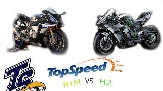 getlinkyoutube.com-TOP SPEED YZF R1M VS Ninja H2 ดูพอเป็นแนวทางก่อนออกรถกัน