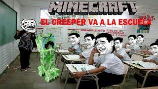 getlinkyoutube.com-Minecraft el creeper va a la escuela LOQUENDO