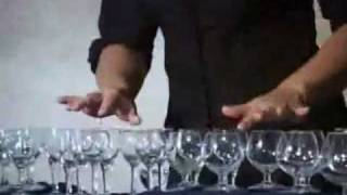 """glassharp - """"Invention 8"""" by J.S.Bach"""