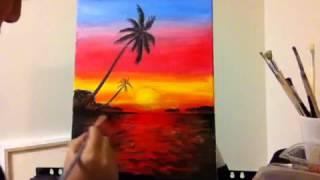 getlinkyoutube.com-Sunset painting