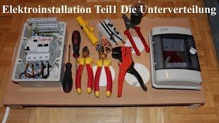 getlinkyoutube.com-Elektroinstallation Teil1 Die Unterverteilung NEU