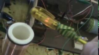 getlinkyoutube.com-12V DC simple Tesla Coil.  (flyback transformer)
