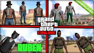 getlinkyoutube.com-Descargar Skins De GTA V Online Para  Gta San Andreas 2015 HD