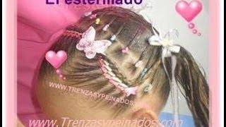 getlinkyoutube.com-Peinados para niñas. Curso #3 (ESTERILLADO Y TRENZA POSTIZA)