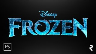 "getlinkyoutube.com-Tutorial Photoshop: Efeito de Texto ""Frozen"" (Disney's Movie)"