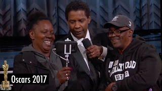 "Denzel Washington Holds HILARIOUS Tourist Wedding Ceremony at 2017 Oscars with ""Gary from Chicago"""