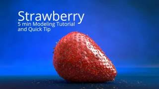 getlinkyoutube.com-5 min Strawberry Modeling c4d Tutorial + Quick Tip HD