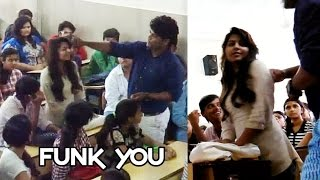 getlinkyoutube.com-Girl Sexually Abused in Classroom by Professor! - Funk You (Prank in India)