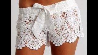 getlinkyoutube.com-tutorial /Crochet shorts lace part 1-explains my friend diy