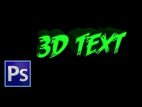 Photoshop CS6 - 3D Text: Tutorial