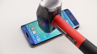 Samsung Galaxy S6 Edge Hammer & Knife Scratch Test