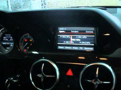 Mercedes GLK+навигация и камера на штатный монитор
