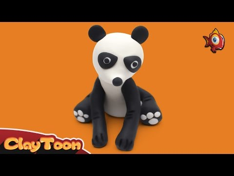 Panda - Polymer clay tutorial