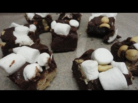 Rocky Road Peanut Butter Ball Fudge