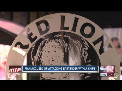 Patron accused of stabbing Red Lion Pub barmaid on Indian Rocks Beach after he was denied service