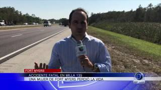 Accidente fatal en Milla 135