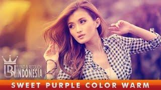 getlinkyoutube.com-Tutorial Photoshop Sweet Purple Color Warm