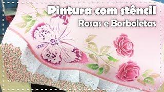 """getlinkyoutube.com-PINTURA EM TECIDO """"ROSAS E BORBOLETAS"""" com Lili Negrão - Programa Arte Brasil - 23/02/2017"""