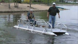 getlinkyoutube.com-Hotwoods Fish-N-Sport 510 Pontoon Boat