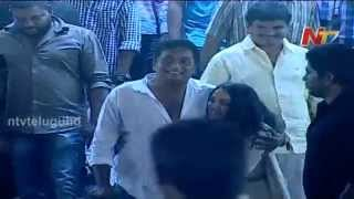 Nithya Menon Jumped and Hug Prakash Raj at Ok Bangaram Telugu Movie Audio Success Meet