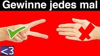 getlinkyoutube.com-IMMER BEI SCHERE STEIN PAPIER GEWINNEN - Life Hacks
