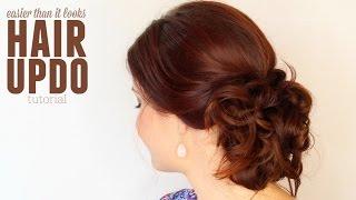 getlinkyoutube.com-Easier than it looks updo hair tutorial