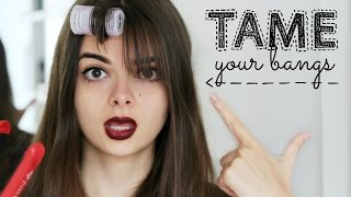 getlinkyoutube.com-How To Tame Bangs | Styling Tips