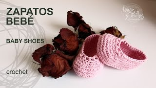 Tutorial Zapatos Bebé Crochet o Ganchillo Baby Shoes (English Subtitles)