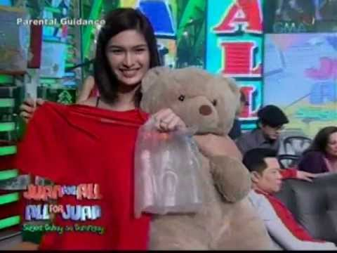 Pauleen hugs a teddy bear 2010