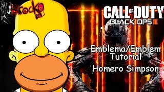 Black Ops 3 | Homero Simpson | EMBLEM/Emblema Tutorial | The Simpsons
