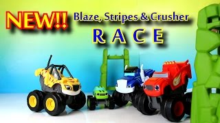 getlinkyoutube.com-Blaze and the Monster Machines Toy Parody with Stripes while Crusher Cheats