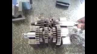getlinkyoutube.com-Working of a 5 speed motorcycle gearbox