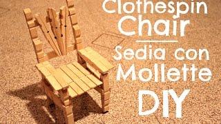 getlinkyoutube.com-Clothespin Chair | Sedia con le mollette