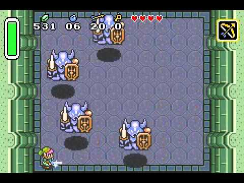 Legend of Zelda, The -  A Link to the Past Armos Knights boss battle (no damage)