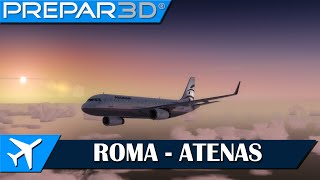 getlinkyoutube.com-[P3Dv3] AS A320   Roma (LIRF) - Atenas (LGAV)   IVAO