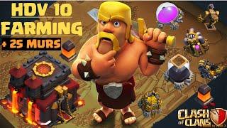 getlinkyoutube.com-Base HDV 10 Farming 275 Murs ! Clash Of Clans