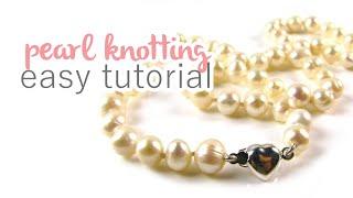getlinkyoutube.com-Pearl Knotting Tutorial