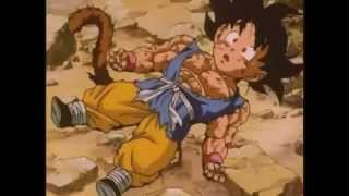 Goku y su Transformacion en Super Saiyan 4 - Dragon Ball GT