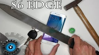 Samsung Galaxy S6 EDGE Display Hammer & Messer Test [Deutsch]