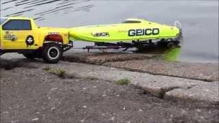 getlinkyoutube.com-Rc Traxxas Launch speed boat 2