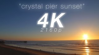 """getlinkyoutube.com-2 HR 4K Nature: """"Crystal Pier Sunset"""" San Diego Pacific Beach Real Time Relaxation Video"""
