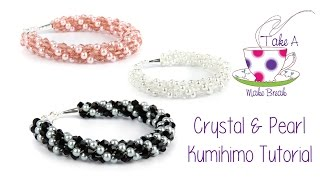 getlinkyoutube.com-Kumihimo Crystal & Pearl Bracelet Tutorial | Take A Make Break with Sarah Millsop ❤️‍