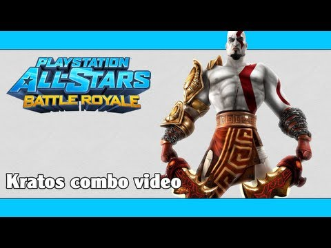 PlayStation All-Stars Battle Royale / PSASBR: Kratos combo video