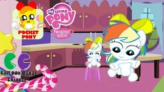 getlinkyoutube.com-Pocket Pony Rainbow Dash Hairstyle: My Little Pony caring game for kids