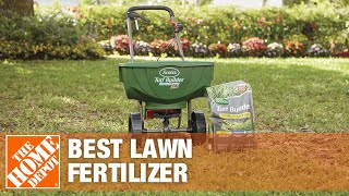 A video shows how to choose the best lawn fertilizer for your yard.