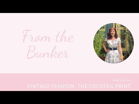 Vintage Fashion: 1950s Cocktail Print Dress
