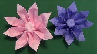 "getlinkyoutube.com-花「ガーベラ」折り紙3 flower""gerbera""origami3"