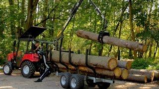 getlinkyoutube.com-Vahva Jussi 420, 3,0t trailer with Belarus 320.4 tractor