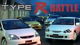 getlinkyoutube.com-[ENG CC] Type R Battle - DC2, DC5, EP3, EK9, S2000, Silvia S15, Audi S3 Tsukuba 2002