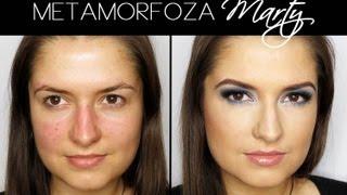 getlinkyoutube.com-Metamorfoza Marty - Wieczorowy makijaż dla brązowych/piwnych oczu